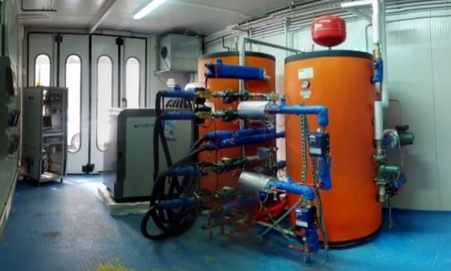 Stazione di prova per chiller e pompe di calore termiche/ibride